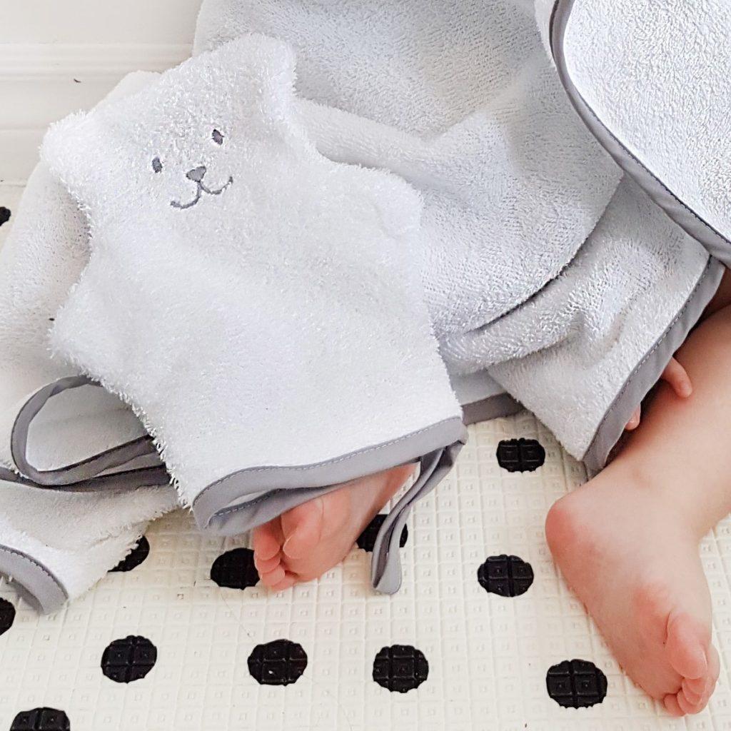 Mitaine et serviette de bain Béké-bobo