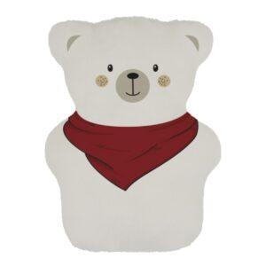 ourson thérapeutique pour les petits avec foulard rouge