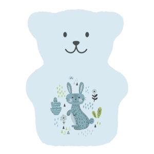 petit ourson thérapeutique bleu avec lapin