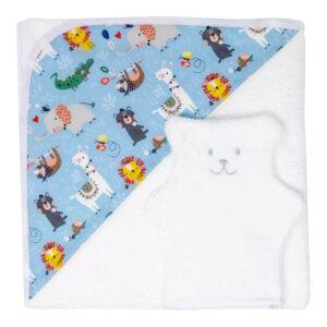 ensemble bain enfant serviette et gant de toilette