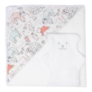 cape de bain pour enfant et bébé avec gant